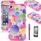 Cute Rainbow Bubbles Hybrid Silicone Case Cover For iPod Touch 4 4th  5 5th Gen
