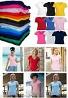 Fruit of the Loom Womens V Neck T Shirt Ladies Top Lady Fit FOTL