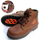 Mens Suneye Safety Work Boots Steel Toe Cap Zipper Size US5~US10.5 Brown color