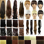 Full Head Clip In Hair Extensions Weft Bangs Ponytail Straight Curly Inventive