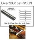 FREE SHIP~~GeetarGizmos~~6 String Guitar NUT SLOT SAW RODS File Tool Set