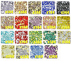 144Pcs Parkling Resin Rhinestone Flatback Crystal Gems Beads 2.9mm 14 Facets