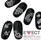 3D White Nail Art Stickers Transfers with Gems | 10 Designs | FREE FAST UK POST