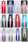 Hot! VOCALOID Hatsune Miku Super Extra long with clip-on Ponytails cosplay wig