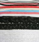 FANCY LACE STRETCH & SKINNY ELASTIC headbands lingerie smocking trim free ship