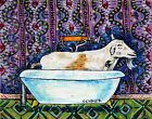 GOAT signed art print bathroom wall art 13x19 glossy animals impressionism
