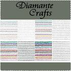 180 Diamante Self Adhesive Rhinestone Craft Embellishment Gems Sizes 1mm - 4mm