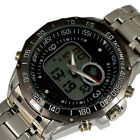 HOT DUAL SOLAR CHRONOGRAPH ANALOGUE DIGITAL HOURS DATE MED LCD MEN WATCH,B91
