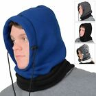 Adults 6 In 1 Polar Fleece Hood Snood Balaclava Winter Warmer Ski Hat Scarf Mask