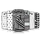 HEAD CASE DESIGNS BLACK AND WHITE DOODLE PATTERNS CASE FOR BLACKBERRY BOLD 9790