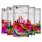 HEAD CASE WATERCOLOURED SKYLINE BACK CASE COVER FOR SONY XPERIA M C1905 C1904