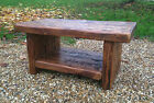 Reclaimed Wood TV Stand / Coffee Table & Shelf Bespoke Rustic Solid Pine Wooden