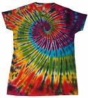 Ladies Tie Dye T Shirt multi rainbow , Hand dyed in the UK by Sunshine Clothing