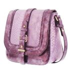 Melie Bianco Jewel Snake Skin cross-body with Front Belt Detail.More Colors!NWT