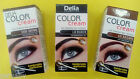 DELIA HENNA CREAM Professional Eyelash Eyebrow Tint Kit BLACK BROWN DARK BROWN.