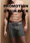 2 Pairs Mens Kickers GREY Striped Boxer Shorts