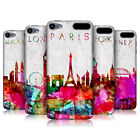 HEAD CASE WATERCOLOURED SKYLINE BACK CASE COVER FOR APPLE iPOD TOUCH 5G 5TH GEN
