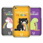 HEAD CASE DESIGNS RAINBOW PUKE CASE COVER FOR APPLE iPHONE 3G 3GS