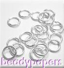 300 - 500 Strong Round 1mm Open Jump Rings 7mm Silver Colour 4071