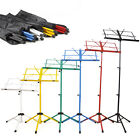 Metal Folding Adjustable Sheet Music Stand Holder Tripod Base Foldable +Case Bag