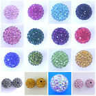 10 Shamballa Beads Clay Crystal Rhinestone Disco Ball Beads 8mm 10mm 12mm