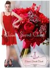 BNWT AMY Red Scarlet Chiffon Prom Evening Bridesmaid Ocassion Dress UK 8 - 18