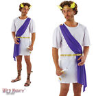 "FANCY DRESS COSTUME ~ MENS ADULT WHITE ROMAN GREEK GOD SIZES 38""-46"""