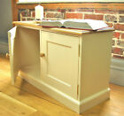 Two Door Oak and Pine Low Cupboard, Cabinet, Shoe and Toy Storage bench seat