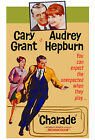 """""""CHARADE""""..With Cary Grant /Hepburn Classic Movie Poster A1A2A3A4 Sizes"""