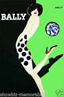 Bally Green print poster large 4 sizes available Villemot french shoe vintage