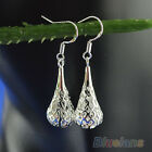 Queen Style Silver/Gold Plated Hollow Chandelier Dangle Ear Drop Earrings B52U