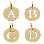 375 SOLID 9CT GOLD PERSONALISED CUT OUT ANY INITIAL A-Z PENDANT DISC CHARM GIFT