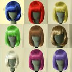 Womens & Girls Sexy Short BOB Hair Wig with Straight Bangs Cosplay Party NEW HDF