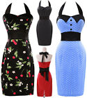 Short Mini Women's Vintage Polka Rockabilly Swing Ball Gown Dance Party Dresses