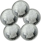 Lot of 5 - Morgan Dollar Design 1 Troy Oz .999 Silver Rounds SKU31047