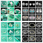 UK Hot Wholesale Lady/mens925 SILVER Bracelet/Necklace/Ring/Earring/Bangle/Chain