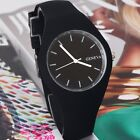 Fashion Geneva Quartz Simple Style Analog Silicon Women's Mens Sport Wrist Watch