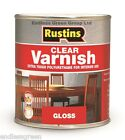 Rustins CLEAR POLYURETHANE VARNISH - for woodwork - Gloss - Satin or Matt 500ml