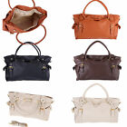 Fashion Womens OL Fashion PU Leather Big Capacity Tote Handbag Tote Shoulder Bag