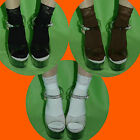 Opaque Lace Socks Stockings Cotton Knit Anklet Ankle High White Women