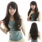 Lady Long Cosplay Wig Curly Wavy Hair Sexy Full Wigs Cosplay Costume Brown/Black