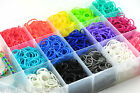 MANY Colours Loom Bands Refill - 600 Latex free bands + 24 S clips -  Bandz