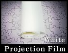 """Wide:60""""/White Rear Projection Film/Projector/Screen/Material/Window/Glass/Home"""