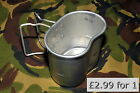 French Army Surplus Metal Mug Aluminium Cup Billy Can Mess Tin Cooking Camping