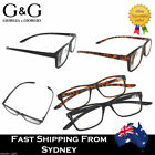G&G Ladies Men Wrap Around Reading Glasses Comfortable Black Brown 1.0 1.5 ~4.0