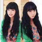 2014 Fashion Long Brown/Black Hair Weave Curly Wavy Full Wigs Cosplay Costume