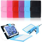 Vogue Leather Stand Case Cover with Micro USB Keyboard For 7 Inch Tablet PC