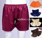Mens 100% Mulberry Silk Sport Athletic Gym Jogging Football Boxers Shorts Trunks
