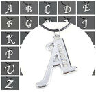 Crystal Stainless Steel A-Z Letter Initial Alphabet Pendant Necklace Fashion New