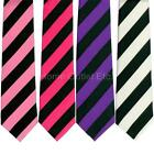 """3"""" Thick Diagonal Striped Neck Tie 2-Tone Casual Wide Print Pattern Polyester"""